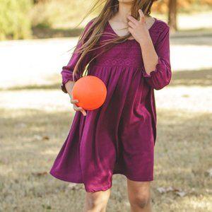 Pretty and SOFT! Burgundy dress Sz M